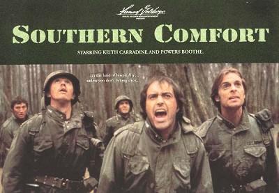 """Otro cartel con el titulo original """"Southern comfort"""""""
